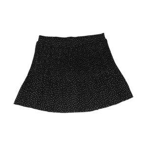 Torrid Black White Polka Dot Skirt A Line Stretch